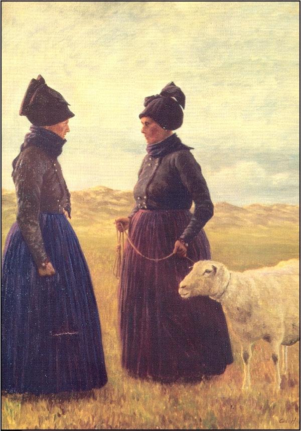 Fanøkoner med får