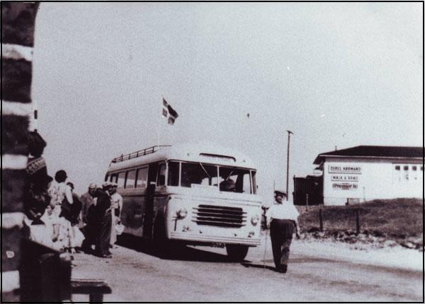 gamle rutebil i kr sand
