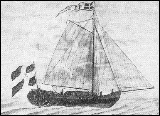 fladbundet sejlskib