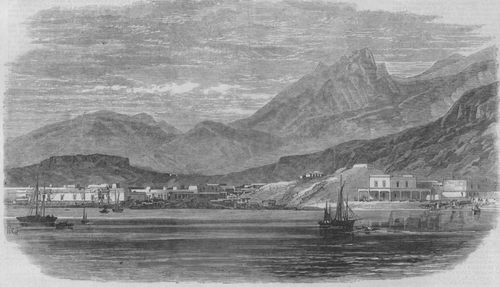mexico-guaymas-scene-of-the-battle-antique-print-1866-144654-p